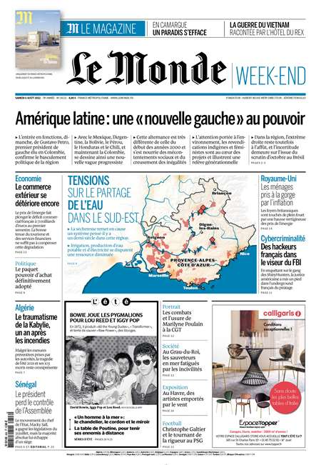 Abonement LE MONDE - Revue - journal - LE MONDE magazine