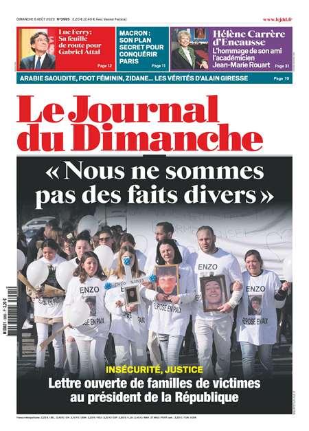 Abonement LE JOURNAL DU DIMANCHE - Revue - journal - LE JOURNAL DU DIMANCHE magazine