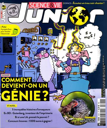 Abonement SCIENCE ET VIE JUNIOR - SCIENCE ET VIE JUNIOR + HS -50% pendant 6 mois sans engagement