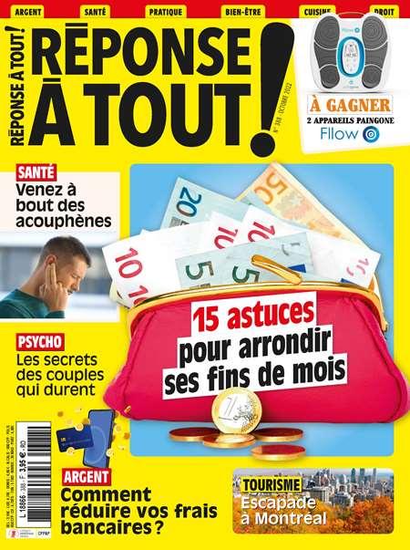 Achat et abonnement REPONSE A TOUT ! - Revue, magazine, journal REPONSE A TOUT !