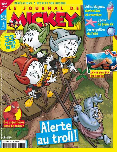 Abonement LE JOURNAL DE MICKEY - <p>LE JOURNAL DE MICKEY -50% pendant 6 mois sans engagement</p>