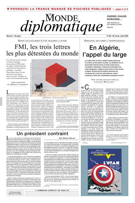 Abonement LE MONDE DIPLOMATIQUE - Revue - journal - LE MONDE DIPLOMATIQUE magazine