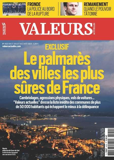 Achat et abonnement VALEURS ACTUELLES - Revue, magazine, journal VALEURS ACTUELLES