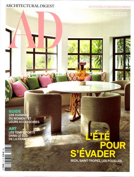 Abonement AD ARCHITECTURAL DIGEST - Revue - journal - AD ARCHITECTURAL DIGEST magazine