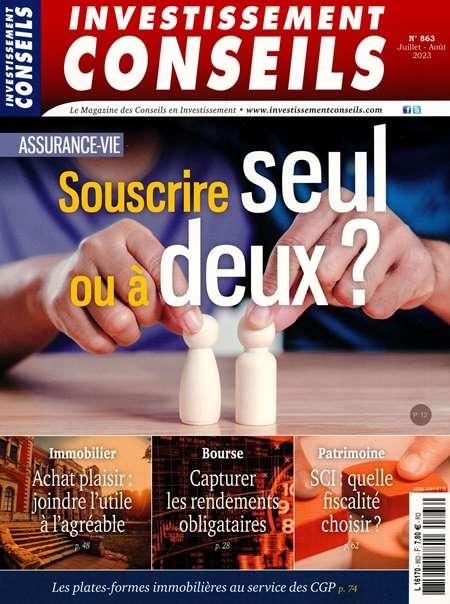 Achat et abonnement INVESTISSEMENT CONSEILS - Revue, magazine, journal INVESTISSEMENT CONSEILS