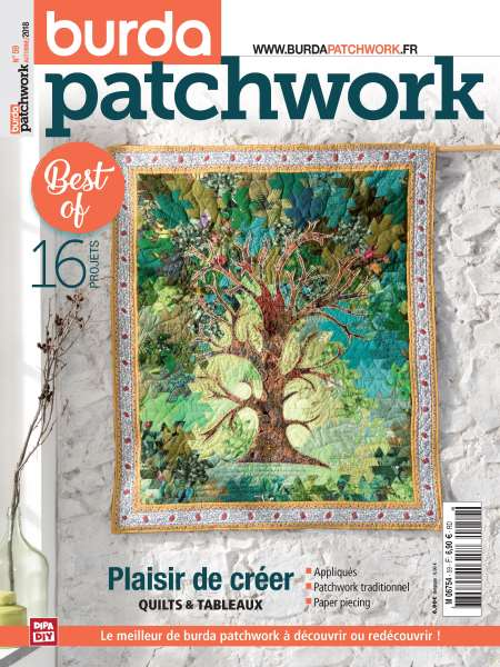Abonement BURDA PATCHWORK - BURDA PATCHWORK -50% pendant 6 mois sans engagement