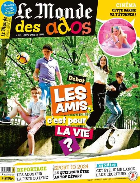 Achat et abonnement LE MONDE DES ADOS - Revue, magazine, journal LE MONDE DES ADOS