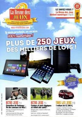 Abonement LA REVUE DES JEUX - Revue - journal - LA REVUE DES JEUX magazine