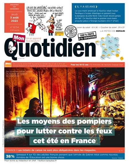 Achat et abonnement MON QUOTIDIEN - Revue, magazine, journal MON QUOTIDIEN