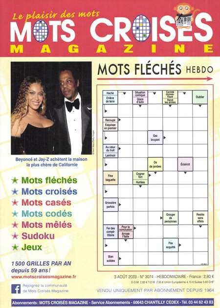 Abonement MOTS CROISES MAGAZINE/MOTS FLECHES - Revue - journal - MOTS CROISES MAGAZINE/MOTS FLECHES magazine