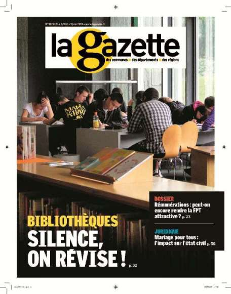promotion LA GAZETTE DES COMMUNES DES DEPART. ET DES REGIONS
