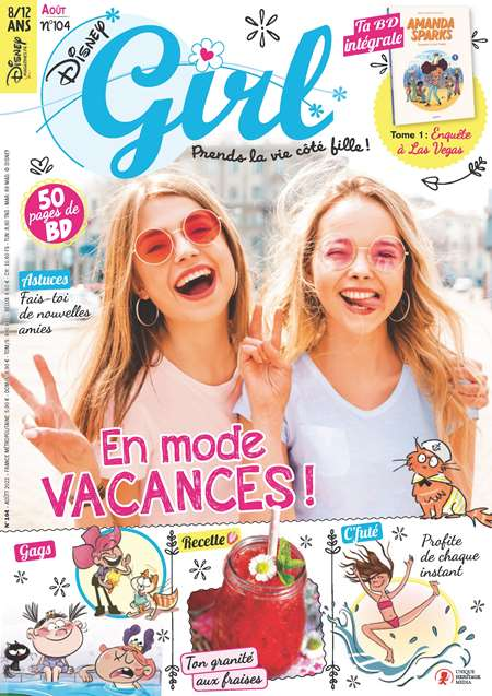 magazine disney girl enfants 7 13 ans mensuel. Black Bedroom Furniture Sets. Home Design Ideas