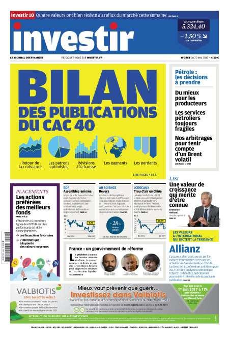 promotion INVESTIR LE JOURNAL DES FINANCES