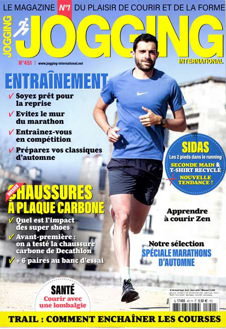 Abonement JOGGING INTERNATIONAL - Revue - journal - JOGGING INTERNATIONAL magazine