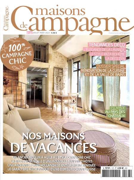 magazine maisons de campagne maison deco jardin bimestriel. Black Bedroom Furniture Sets. Home Design Ideas