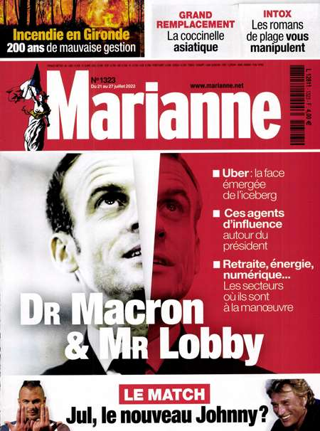 Abonement MARIANNE - Revue - journal - MARIANNE magazine