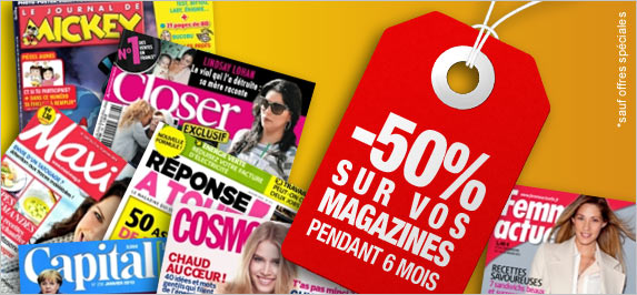 abonnement magazine abonnement presse magazine pas cher abonnement magazine auchan. Black Bedroom Furniture Sets. Home Design Ideas