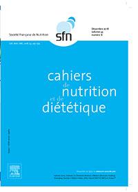 CAHIERS DE NUTRITION ET DE DIETETIQUE