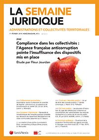 LA SEMAINE JURIDIQUE - ADM. ET COLLECT. TERRITORI.