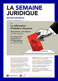 LA SEMAINE JURIDIQUE - EDITION GENERALE